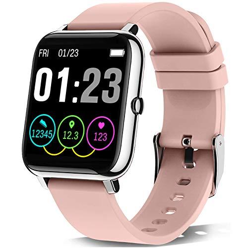 KALINCO Smartwatch, Smart Watch mit Blutdruckmessung, Fitness Tracker Pulsuhr Schlafmonitor Sportuhr IP67 Wasserdicht Schrittzähler für Damen Herren