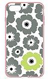[IPHONE8] ケース 背面ガラスケース 角丸(ラウンド型) ライトピンク デザイン 花柄 フラワー……