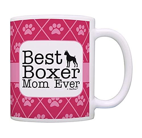 NA Regali per la Mamma del Cane Carino La Migliore Mamma del Pugile di Sempre Tazza da tè Tazza da caffè Boxer Tazza da caffè per Cani Tazza da tè Boxer Mom