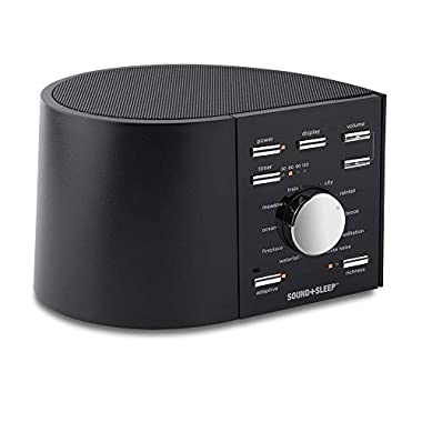 Sound+Sleep High Fidelity Sleep Sound Machine with Real Non-Looping Nature Sounds, Fan Sounds, White Noise, and Adaptive Sound Technology