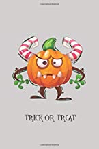 TRICK OR TREAT - MONSTER NOTEBOOK: Halloween notebook to write in, pumpkin monster lined pages, perfect halloween gift for...