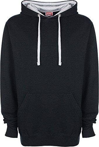 FDM Unisexe Pull à capuche/Sweatshirt à capuche avec capuche de couleur contrastée - - X-Small