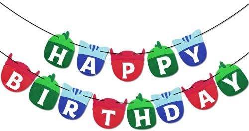 Happy Birthday Banner Kids Party Decorations Felt Garland Suppli