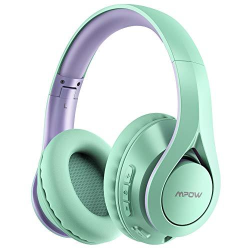 Mpow 059 Pro 60 Stunden Bluetooth Kopfhörer Over Ear, Hi-Fi Stereo Bass Wireless Kopfhörer mit Mikrofon, Faltbares Headset mit weichem Memory-Protein Ohrenschützer, Bluetooth 5.0 & Wired Mode für Handy PC TV
