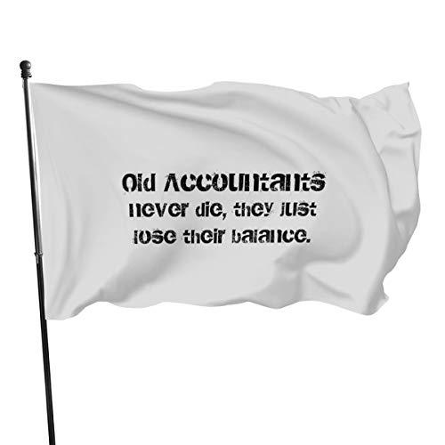 Anciens Comptables Never Die Drapeaux de bannière 3 5 m