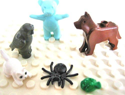 LEGO City - 6 seltene Tiere: Hund, Katze, Frosch, Spinne, Eule, Bär