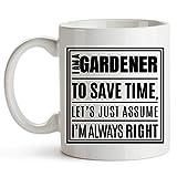 YouNique Designs - Taza de jardinero (325 ml), diseño divertido