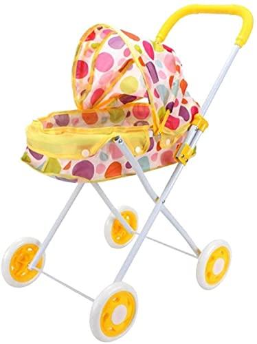 ZWWZ Cochecito Plegable del Cochecito de la muñeca para el bebé para el bebé recién Nacido de Reborn, niños de la guardería de los niños Decoración del Juguete del Juguete MISU