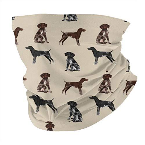 Lesif Seamless Face Bandana Head Wrap Scarf Headband Neck Warmer Gaiter Headwear Balaclava For Outdoors Sports,German Shorthaired Pointer Dogs Gsp Dog Cute Dog