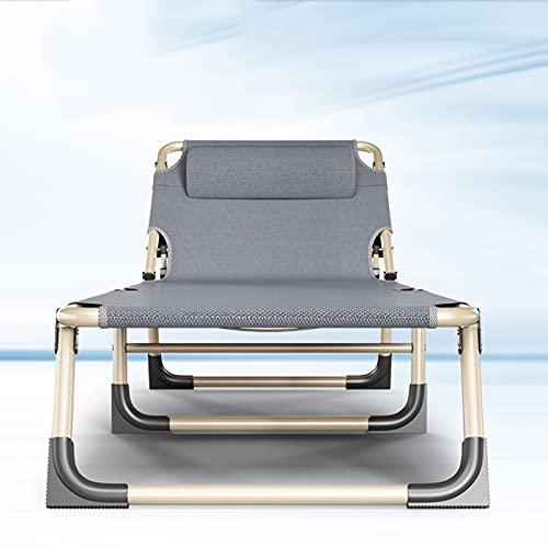 BKWJ Sillón reclinable reclinable de Gravedad Cero, 4 Posiciones Ajustables Silla de Playa Plegable Sillón de Sol de Gran tamaño para césped de Patio Interior al Aire Libre