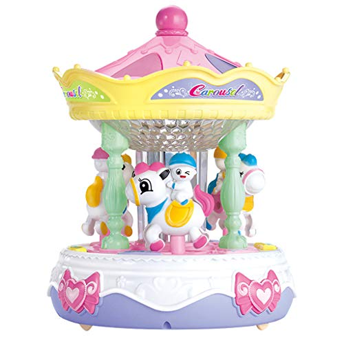 For Sale! Fine Music Box for Carousel,Carousel Music Box Puzzle Sound and Light Baby Story Learning ...
