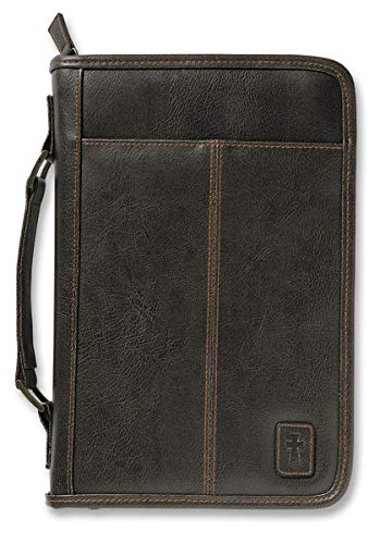 Aviator Leather-Look Brown XL Book and Bible Cover