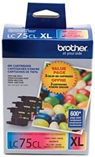 Brother LC75 Ink Cartridge ( Cyan,Magenta,Yellow , 3-Pack )