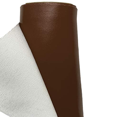 A-Express Cuero de imitación Tela Cuero sintético Vinilo Paño de cuero Material de tela 140cm de ancho - Marron 1 Metro (100cm x 140cm)
