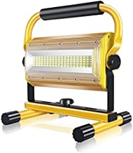 Rechargeable LED Floodlight,SONEE 100W Super Bright Waterproof Portable LED Work Light with Stand for Workshop Construction Site Camping Hiking Truck Repairing Job Site Light