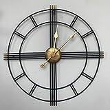 Micaza Reloj De Pared De Metal Vintage, Reloj Creativo Simple Silencio Retro Romano Living Comedor Dormitorio Coffee Shop Regalo para Amigos Familias-a 19.7 Inches
