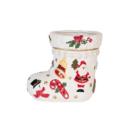Fitz and Floyd Coleen Christian Burke First Ladies Kennedy Christmas Stocking Vase/Utensil Holder, 8-Inch, White