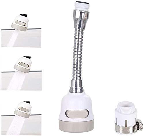 zyh Cabezal rociador para Grifo de Fregadero con rotación de 360 °,para baño y Cocina,Extensor de Grifo de Cocina,Grifo Giratorio (1 artículo)
