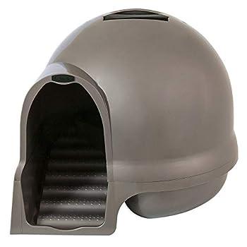 Petmate Booda Dome Clean Step Cat Litter Box 3 Colors Brushed Nickel
