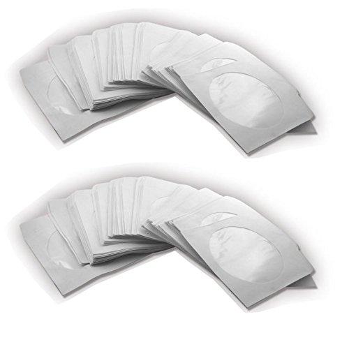 1000 PAPIERHÜLLEN MIT LASCHE HÜLLEN PAPIER HÜLLE SLEEVE FÜR CD DVD BLURAY ROHLING