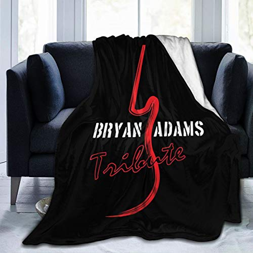 """Lphdfoxh1 Bryan Adams – Funda de edredón de franela adecuada para todo tipo de sofá, oficina suave y cómoda., Franela., negro, 50""""x40"""""""