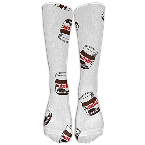 Nifdhkw Style Unisex Socks Casual Knee High Stockings Nutella Cotton Socks One Size