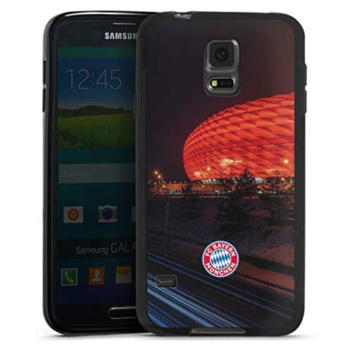 DeinDesign Silikon Hülle kompatibel mit Samsung Galaxy S5 Neo Hülle schwarz Handyhülle FCB Stadion FC Bayern München