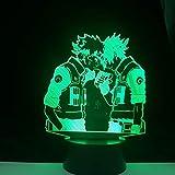 lampara 3D Pared Kakashi Sasuke Haruno Sakura Anime japonés 7 Cambios de Color Interruptor táctil y Remoto Navidad