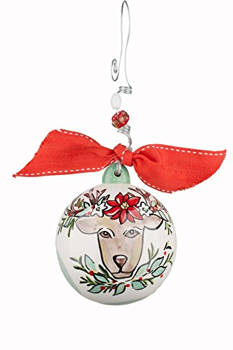 Glory Haus Reindeer Ball Ornament, 4' x 4', Multicolor