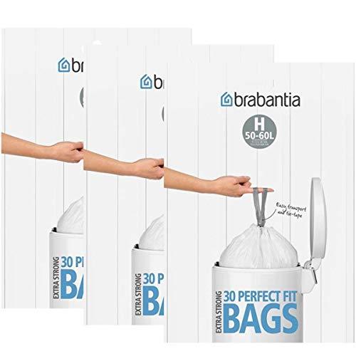 Sacs poubelle Brabantia, taille H, 50-60 litres – 30 sacs
