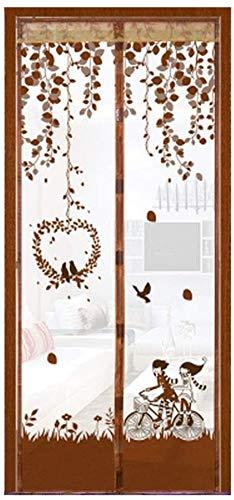 JDD Magnetic-Fliegen-Schirm-Tür-magnetische Vorhang Ma Sommer Home Schlafzimmer Anti-Moskito Vorhang Magnetic Soft Screen-Tür-freier magnetischer Streifen Bildschirm Schirm-Tür (Size : 90x215cm)
