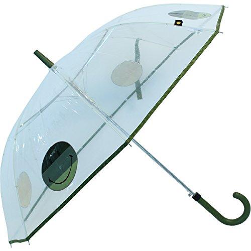 Regenschirm durchsichtig transparent Smiley World - grün