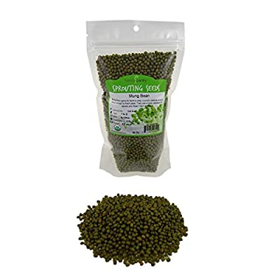 Mung Bean Sprouting Seed: Organic, Non-GMO - Handy Pantry Brand - Dried Mung Beans for Sprouts, Garden Planting, Chinese & Asian Cooking, Soup & More