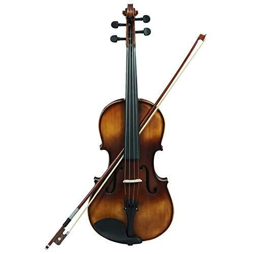 LOIKHGV Geige- Viola Retro Style Matte Vintage Rosenholz Fichte Mit Schleife & amp;KolophoniumSaiteninstrumente Viola Für professionelle Darbietungen, wie abgebildet