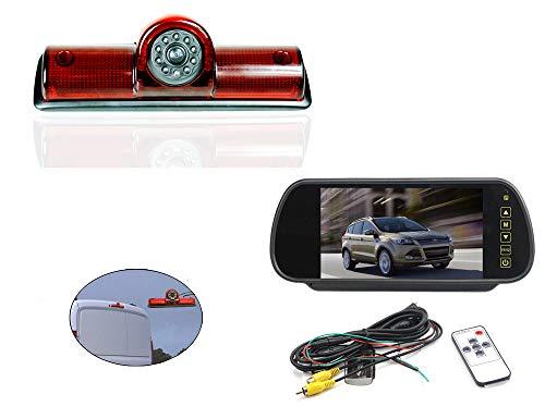 Vision de Nuit la Vue arrière imperméables IR Renforts troisième feu Stop caméra pour Dodge ram promaster Cargos Van + 7 Pouces HD inverser rétroviseur surveiller