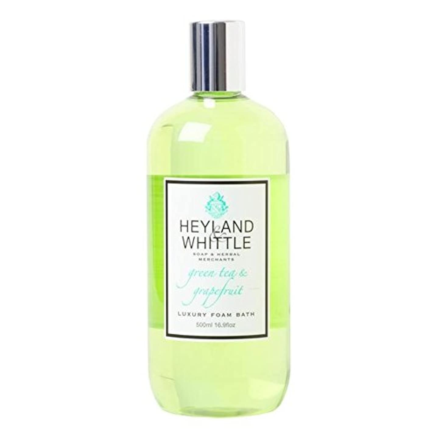 Heyland & Whittle Greentea & Grapefruit Foam Bath 500ml (Pack of 6) - &削るグリーンティ&グレープフルーツ泡風呂500ミリリットル x6 [並行輸入品]