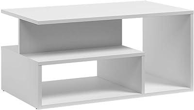 Selsey Kasivo - Table Basse/Table de café - 90x51 cm, Blanc - Style scandinave
