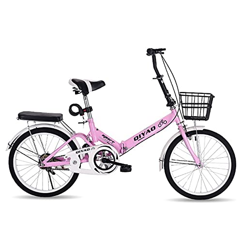 GGXX Bicicleta Plegable De 16/20 Pulgadas para Hombre Y Mujer, Bicicleta De Ciudad De Velocidad Variable PortáTil para Adultos, Bicicleta De Carretera PequeñA Y Ultraligera
