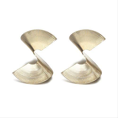 Geschenken Oorbellen Punk Style Goud Zilver Kleur Overdreven Onregelmatige Geometrische Sector Drop Earring Sieraden Earring
