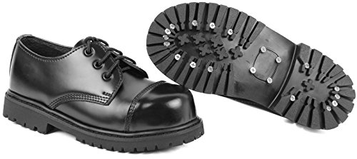 3 Loch UK Gothic Boots Springerstiefel 8,Schwarz