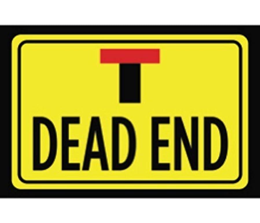 好奇心転用応答Shimaier 壁の装飾 メタルサイン Dead End Print Bright Yellow Black Horizontal Road Drive Street Roadway Outdoor Sign - Metal