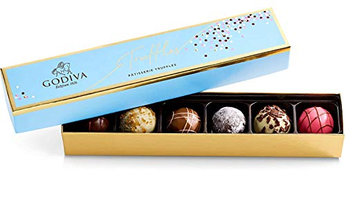 Godiva Chocolatier Patisserie Dessert Truffle Flight Assorted Chocolate Gift Box, 4.09 Ounce (Pack of 6)