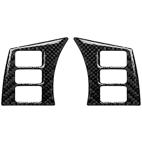 XQRYUB Carbon Fiber dekorative Auto Lenkrad Knopfrahmen Modifikation Aufkleber, für Nissan 350Z Z33 2006-2009