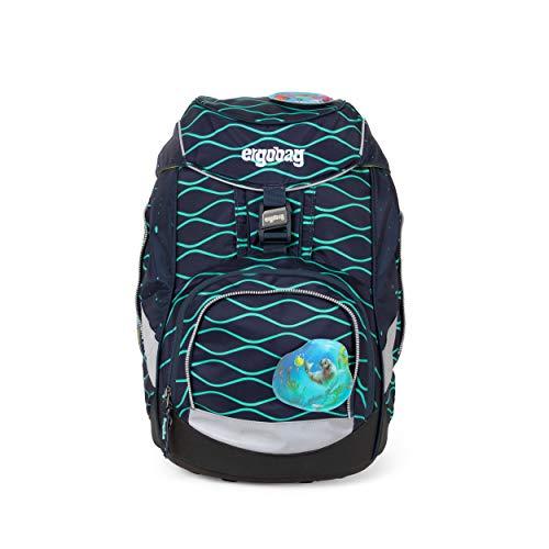 ergobag pack Set - ergonomischer Schulrucksack, Set 6-teilig - BlubbBär - Blau