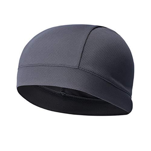 BESPORTBLE Schweißableitende Helmauskleidung Kühlung Schädelkappe Schnell Trocknender Helm Schutzhelm Einlage Zubehör für Radfahren Laufen Wandern Übung (Dunkelgrau)