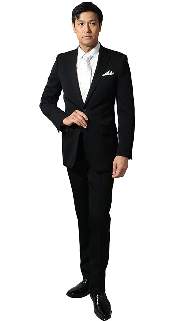 マオリ肥満音楽[UNITED GOLD] 礼服 フォーマルスーツ メンズ シングル スリム オールシーズン ノータック 5000