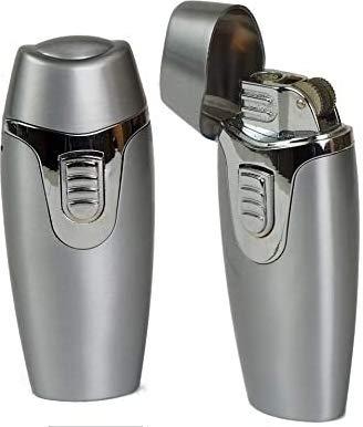 Lifestyle-Ambiente Tycoon Feuerzeug Technoburner Dualflamme Reibradzündung Chrom inkl Tastingbogen