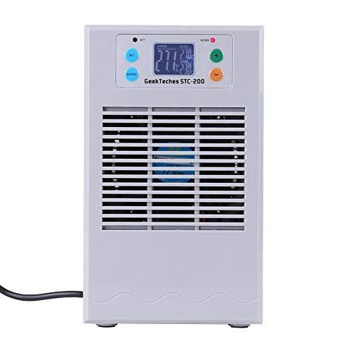 STC-200 Verwarmer/koudwaterdispenser, 100-240V aquarium Waterkoeling Verwarming Machinethermostaat voor aquarium - Temperatuurinstellingen - Heet, koud water(EU 20L 70W)