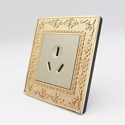 Interruptor de pared, interruptor de palanca de época 220V 1/2/3 / 4GANG.2WAY 10A Interruptores de luz retro Vintage Interruptor para la talla de metal de sala de estar