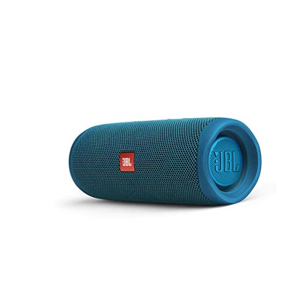 jbl flip 5 – waterproof portable bluetooth speaker made from 100% recycled plastic – blue